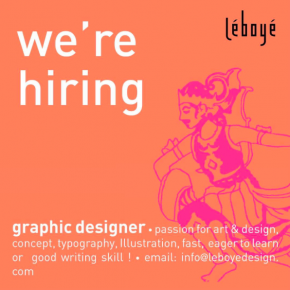 LeBoYe: Graphic Designer Wanted [Job Vacancy]