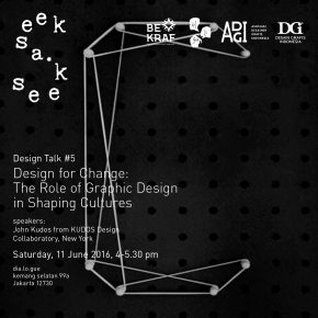 Seek A Seek Design Talk #5 – Design for Change: The Role of Graphic Design in Shaping Cultures